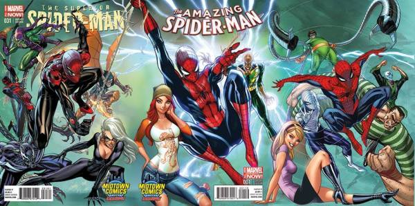 Top 10 Covers by J. Scott Campbell